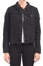 Blank Denim Jean Jacket in Distressed Black w/ Stud & Rhinestone Detailing sz S