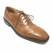 Men's Johnston & Murphy Oxfords Dress Shoes Size 8M Brown Leather Made Italy V10