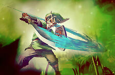 Framed Print - The Legend of Zelda Link with Sword (XBOX ONE 360 PS3 PS4 Wii)