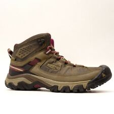 Keen Womens Targhee III Mid Brown Leather Athletic Hiking Trail Boots Size 9.5