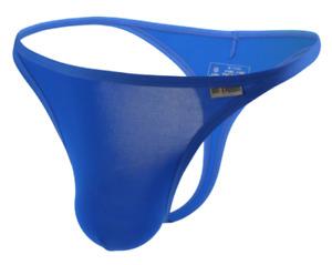 Mens Brave Person Medium Blue Ice Nylon Thong G String T Back 1/4 Back Gay UK