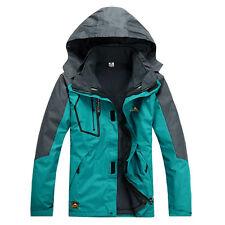 Men Waterproof Soft Shell Fleece Outdoor Jacket Hiking Climbing Ski Clothes Coat