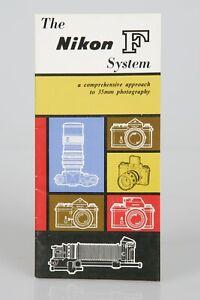 Nikon F Camera System FTN Brochure 31 Pgs GREEN BAY PACKER PIC Jerry Kramer