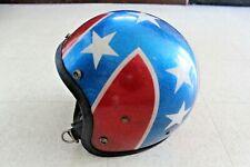 Vintage 1970s EVEL KNIEVEL Easy Rider Motorcycle Helmet Stars Stripe RARE