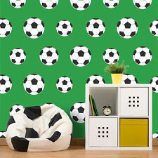 Charmant Goal Football Wallpaper Green 9723 Belgravia Decor Boys Bedroom