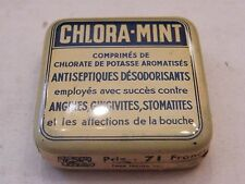 Box Metal Epoxypropane Mint Antiseptic Angina Gingivitis Stomatitis Antique