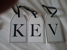 Wooden Alphabet Tag 'KEV' NEW