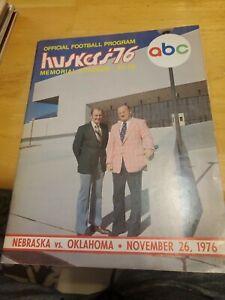 1976 NOVEMBER 26 1976 NEBRASKA VS OU ABC OFFICIAL FOOTBALL PROGRAM GOOD COND.