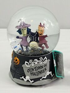 The Nightmare Before Christmas Our Town Of Halloween Snow Globe Wind Up Music