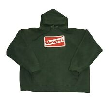 Vtg shortys skateboard hoodie Mens M Made In The Usa Green Distressed Sweatshirt