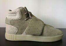 Mens Adidas Shoes Tubular Invader Strap Grey Suede Leather Trainers VGC - UK 6
