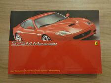 Ferrari 575M Maranello Owners Handbook/Manual