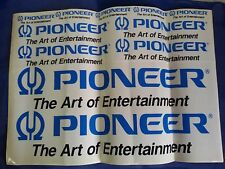 Rare PIONEER the ART of ENTERTAINMENT x11 Vintage Adesivi stickers PAPER 50x35cm