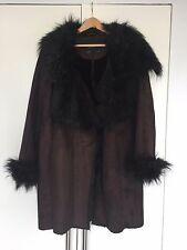 Zara Faux Fur And Faux Sheepskin Brown Coat Size XL