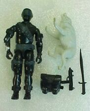 Vintage GI JOE SNAKE EYES FIGURE w/ TIMBER WOLF 1985 COMPLETE