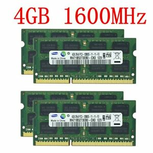 16GB 8GB 4GB 1GB Laptop Memory PC3-12800S DDR3 1600MHz CL11 RAM For Samsung LOT