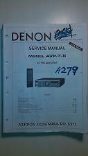 denon avp-7.5 service manual original repair book av stereo pre amp amplifier