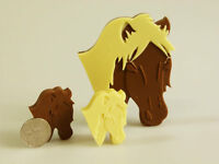 4+1 Horse / Pony Chocolate Candy Silicone Bakeware Mould Sugarpaste Cake Sweets
