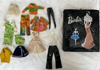 Vintage 1960s Mattel Barbie Doll, Clothing, Accessories and Case Lot - Nice