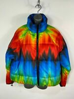 BNWT WOMENS TOPSHOP UK 12 MULTICOLOURED PATTERN SHORT PADDED PUFFER COAT JACKET