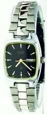 New Old Stock Ladies Citizen Watch Quartz Water R Square Black Dial, Day Date