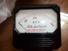 vintage  Speed Indicator 2000 RPM Reliance Electric Cleveland Ohio 321616/8652