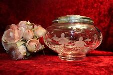 Stuart Cut Crystal Rose Bowl Cascade design 12 cms