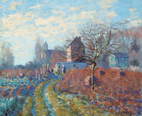 Alfred Sisley Gelee Blanche Village Landscape Art Print on Canvas Repro Small