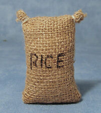 1:12 Large Hessian Sack With Rice Written On Dolls House Miniature Accessory