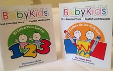 2 Pre-K Eng/Spanish Combo Books (Numbers & Colors) Pronunciations Included
