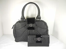 New~100% Authentic GUESS Black Belicia Satchel Purse & Checkbook Wallet