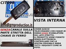 CHIAVE GUSCIO COVER PER TELECOMANDO CITROEN C3 C4 C8 PORTA BATTERIA TASTO LUCI