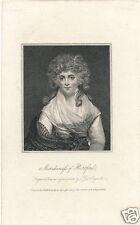 1813 La Belle Assemblee stipple engraving Marchioness of Hertford George IV