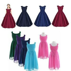 Girls Party Dress Kid Evening Ball Gown Princess Pageant Wedding Skirt Costumes