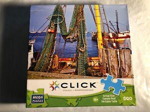 500 piece CLICK MEGA PUZZLE Fishing Nets Cape Cod by Paul Rezendes 10+