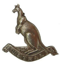 WW1 THE AUSTRALIAN YEOMANRY BADGE SOLID SILVER