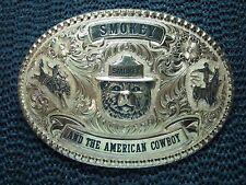 SMOKEY BEAR AND THE AMERICAN COWBOY BELT BUCKLE! VINTAGE! VERY RARE! GIST! USA!