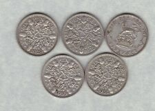 More details for five 1926/1928/1929/1931 & 1935 sixpences in good fine condition