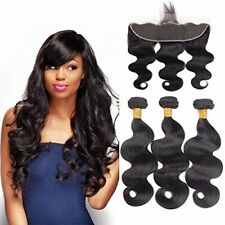 10A 13x4 Ear to Ear Lace Frontal Closure with Hair Bundles Brazilian Virgin Hair