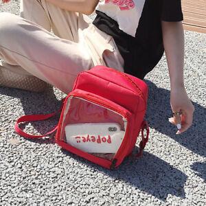 New Ita Bag DIY Kawaii Transparent Backpack Harajuku School Bag Girl