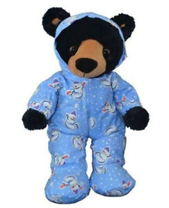 Adorable Blue Snowman Hoodie Footies Fit Most 8 to 10 inch Build A Bear and Make