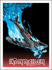 IRON MAIDEN PHILLY SILKSCREEN  GIG POSTER / SIGNED BY THE ARTIST 2017 TOUR