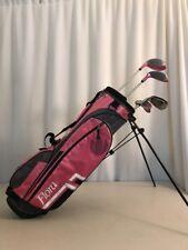 For Girls age 9-12 Driver irons bag Putter PINK Junior Intech Golf Club Set