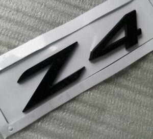 Z4 Letter Trunk Tailgate Glossy Black Badge Rear Emblem Sticker for BMW Z4