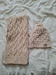 Ladies Ugg hat and scarf Set genuine