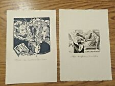 More details for 1990/1991 two vintage bookplate/etching by cristiano beccaletto,signed +