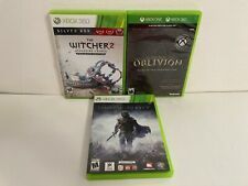 Xbox 360 Game LOT: The Witcher 2 Enhanced Edition + Oblivion + Shadow of Mordor