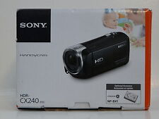 SONY Handycam Video Camera with 2.7-Inch LCD - Black (model: HDR-CX240)... NEW!