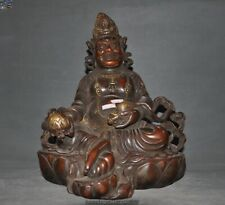 Tibet Buddhism purple bronze copper Yellow Jambhala God of wealth Buddha statue