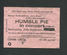 Original 1974 Humble Pie McGuinness Flint Concert Ticket Stub Manchester UK